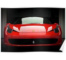 Red Ferrari 458 Poster