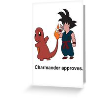 Charmander Approves Greeting Card