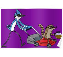 Regular Show Let's cut some grass Poster