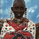 Young Maasai Woman - Kenya, Africa by Bev Pascoe