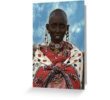 Young Maasai Woman - Kenya, Africa Greeting Card