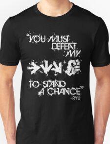 Ryu Win Quote White T-Shirt
