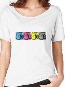 CMYK Camera T-Shirt Women's Relaxed Fit T-Shirt