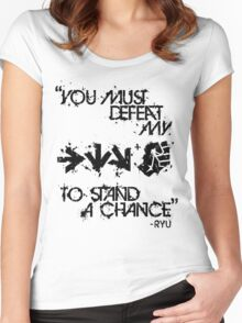 Ryu Win Quote Black Women's Fitted Scoop T-Shirt