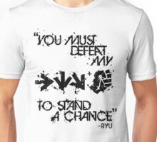 Ryu Win Quote Black Unisex T-Shirt