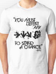 Ryu Win Quote Black T-Shirt