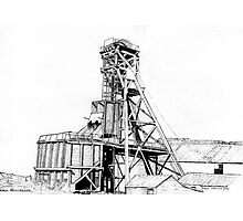 Hamilton Headframe,Kalgoorlie.West Australia 30x 40 cm Photographic Print