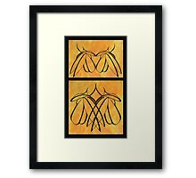 Apart and Together Framed Print