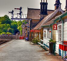 Platform No2 at Grosmont by Trevor Kersley