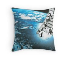 In at the deep end Throw Pillow