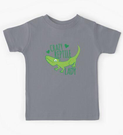 Crazy Lizard reptile Lady 2 Kids Tee
