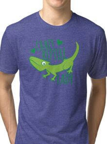 Crazy Lizard reptile Lady 2 Tri-blend T-Shirt