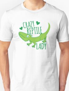 Crazy Lizard reptile Lady 2 Unisex T-Shirt