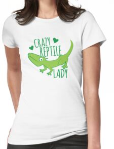 Crazy Lizard reptile Lady 2 Womens Fitted T-Shirt