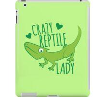 Crazy Lizard reptile Lady 2 iPad Case/Skin