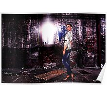 Fashion Model in Jeans Fine Art Print Poster