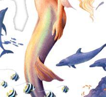 Sunrise Mermaid Sticker