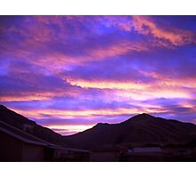 Early Morning Dawn outside my sliding glass doors Photographic Print