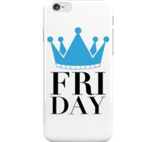 FRIDAY Crown (White) iPhone Case/Skin