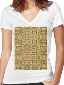 Rope Patterns 7 Women's Fitted V-Neck T-Shirt