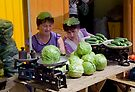 Cabbage Heads, Chortkiw Market, Ukraine by Yuri Lev