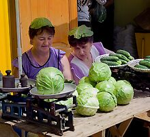 Cabbage Heads, Chortkiw Market, Ukraine by Yuri Lev