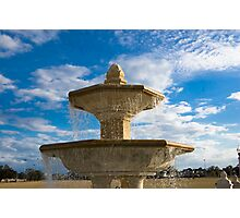 The Fountain at Blue Jacket park Photographic Print