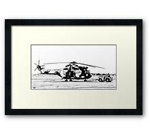 Aerospatiale SA-330H Puma Helicopter  Framed Print