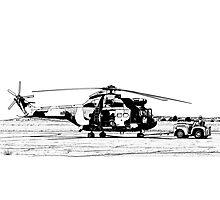Aerospatiale SA-330H Puma Helicopter  Photographic Print