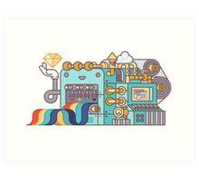 Rainbow Factory Art Print