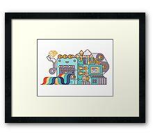 Rainbow Factory Framed Print