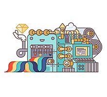 Rainbow Factory Photographic Print