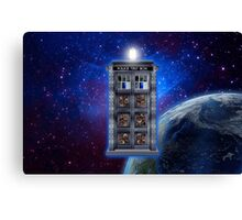Time and Space travel Steampunk machine Canvas Print