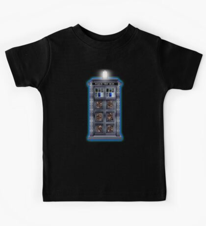 Time and Space travel Steampunk machine Kids Tee