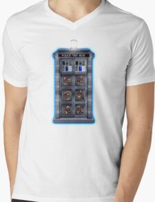 Time and Space travel Steampunk machine Mens V-Neck T-Shirt
