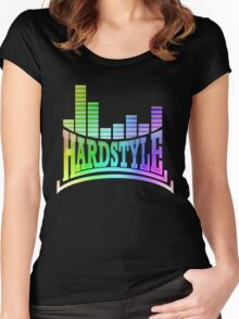 Hardstyle T-Shirt - Rainbow Women's Fitted Scoop T-Shirt