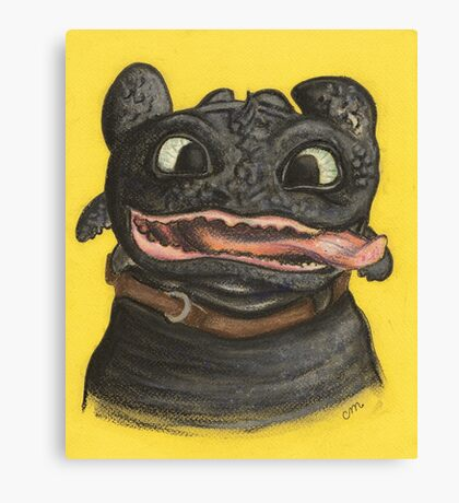 Goofy Toothless Canvas Print