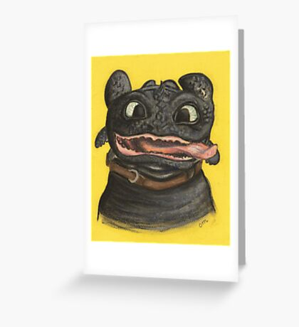 Goofy Toothless Greeting Card