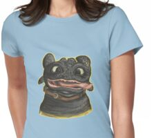 Goofy Toothless Womens Fitted T-Shirt