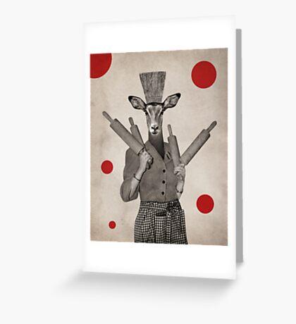 Anthropomorphic N°5 Greeting Card