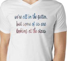Oscar Wilde - We're All in the Gutter Mens V-Neck T-Shirt