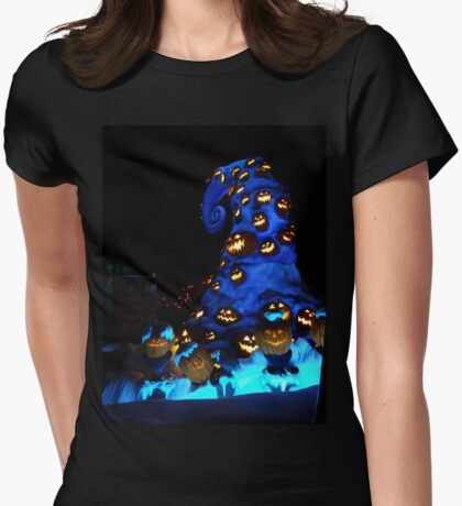 Nightmare or pumpkins before christmas Womens Fitted T-Shirt