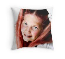 Strawberry Blonde Throw Pillow
