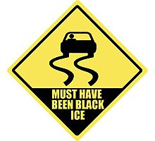 Must have been black ice Photographic Print