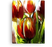 Tulip Brush Canvas Print