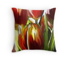 Tulip Brush Throw Pillow