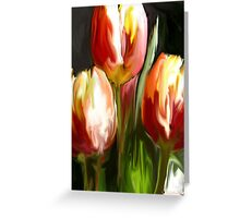 Red & Yellow Tulips Greeting Card