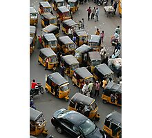YELLOW AUTOCABS OF HYDERABAD Photographic Print