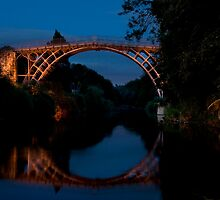 Ironbridge at night by Paul Woloschuk