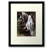 Waterfalling Framed Print